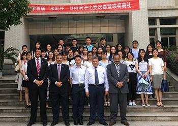 خلال زيارته للصين: القاضى يلتقي بابناء جامعة بنها الدارسين في جامعة وسط الصين