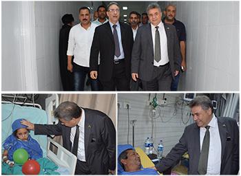 فى زيارته لمستشفيات جامعة بنها القاضى يطمئن على استعدادات العيد