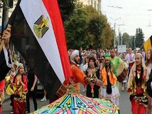درع المهرجان الدولى للفلكلور بأوكرانيا لجامعة بنها