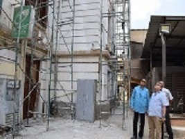 EL-kady inspects the amendments of the Benha University's building