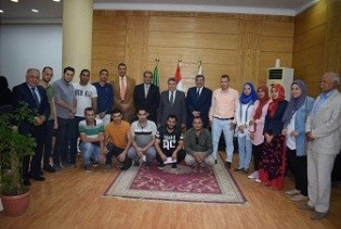 EL-Kady meets with the Benha university students who were sent for scholarships in China