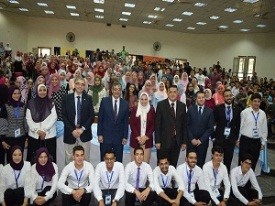 El-Magraby participates in receiving the Benha University ' students at the first day of the new term