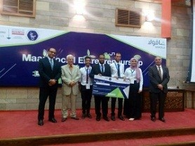 The faculty of engineering team obtains the second place in the entrepreneurship contest at the American University in Cairo