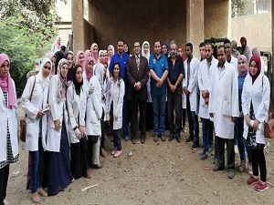 جامعة بنها تنظم قافلة لقرية سنديون بمركز قليوب بمحافظة القليوبية