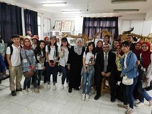 فى إطار التعاون الدولي : وفداً من طلاب جامعة بكين للغابات الصينيه في زياره لجامعة بنها