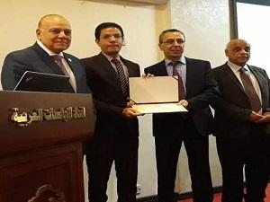 جامعة بنها تشارك في ورشة عمل عن التعليم عبر التقنيات الحديثة بإتحاد الجامعات العربية بالأردن