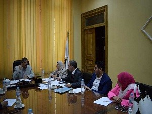 EL-Magraby orders to computerize the exams and its E- markings in Benha University