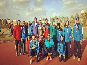 جامعة بنها تحصد 12 ميدالية فى بطولة ذوى الإحتياجات الخاصة بالإسكندرية