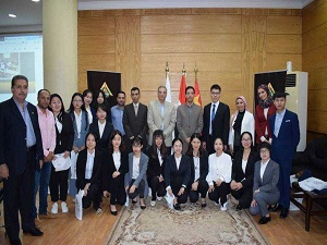 Bejin university stduents delegation end their visit to benha university