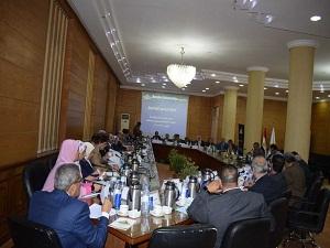 خلال رئاسته مجلس  جامعة بنها: المغربى يشيد بالجهود المبذولة والإنجازات التى حققتها الكليات