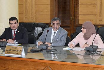 المغربي: بالتكامل بين الجامعة والمحافظة سيتم رفع الكفاءة الانتاجية لمواطني القليوبية