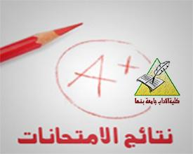 نتيجة كلية الأداب الفرقة الثالثة الفصل الدراسي اﻻول 2019/2018