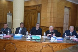 The deans selection- committee meets the three candidates