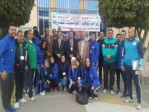 جامعة بنها تحصد ٦ ميداليات فى أسبوع شباب الجامعات المصرية بكفر الشيخ