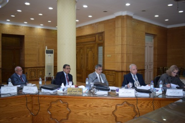 The deans-selection committee meets with the candidates for the deanship position in the faculty of education