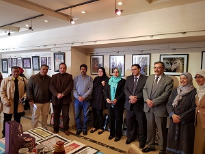 EL-Magraby inaugurates the exhibition of the design shapes created under the supervision of the students of the faculty of specific education