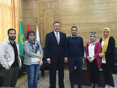 President of Benha University in a meeting with students of the Faculty of Applied Arts