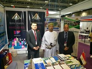 جامعة بنها تشارك في المعرض الدولي للتعليم العالي جيديكس بسلطنة عمان