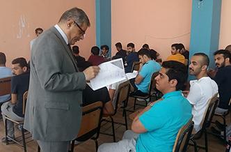 «المغربى» يتفقد امتحانات لجان الوافدين بالتربية الرياضية