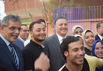«السعيد» و«المغربى» يشاركان طلاب المدن الجامعية والعاملين حفل إفطار رمضان