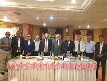رئيس جامعة بنها يشارك نادى أعضاء هيئة التدريس حفل إفطار رمضان