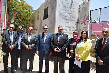 El Saeed inspects establishment of the First Integrated Center for Treating Breast Cancer at Benha University