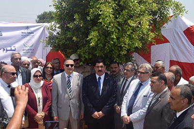 El Qalyoubia's Governor and Benha University President inaugurate Kafr Farsis Village Development Project