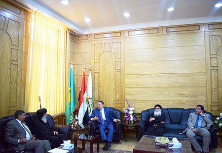 رئيس جامعة بنها يستقبل وفد الكنيسة الأرثوذكسية للتهنئة بعيد الأضحى المبارك