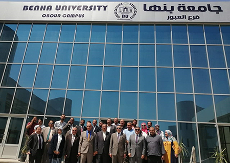 Benha University President inspects Several Facilities at El Obour Branch