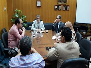 المغربى : إنشاء ملف طبي مميكن لطلاب جامعة بنها وتشغيل العيادة الطبية لفرع العبور