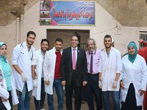 جامعة بنها تنظم قافلة بيطرية لقرية الحصة