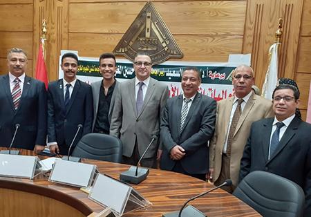 محمد زكى رئيسا لإتحاد طلاب جامعة بنها
