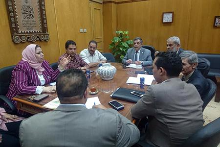 «المغربى» يترأس اجتماع تجهيز مركز الاختبارات المركزية الإلكترونية