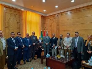 المغربى يستقبل وفد المركز القومى للقياس بوحدة مشروعات التعليم العالى