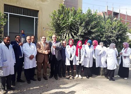 جامعة بنها تنظم قافلة بيطرية لقرية الاحراز التابعة لمركز شبين القناطر