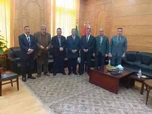 «المغربى» يستقبل فريق الإعتماد الأكاديمي خلال زيارته لهندسة بنها