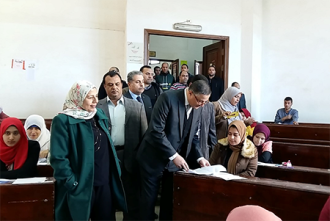 The university president inspects that the exams are up and running in the faculties and listens to the students' opinion of the exams sheet