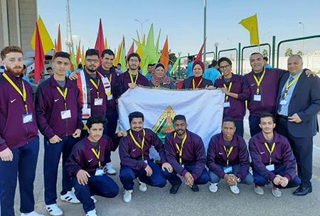 جامعة بنها تشارك فى الملتقى الرياضى الأول للوافدين بالجامعات المصرية