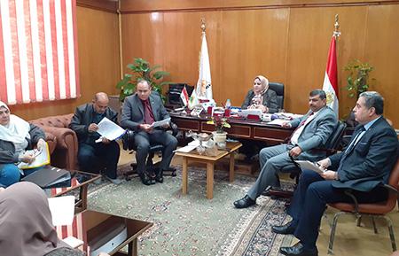 إجتماع لجنة السلامة والصحة المهنية بجامعة بنها