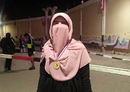 طالبة بجامعة بنها تحصل على المركز الثانى فى المسابقة العالمية للقرآن الكريم