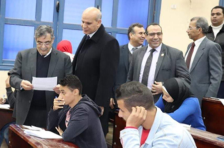 El Maghraby inspects Exams Halls and control Works at Faculties
