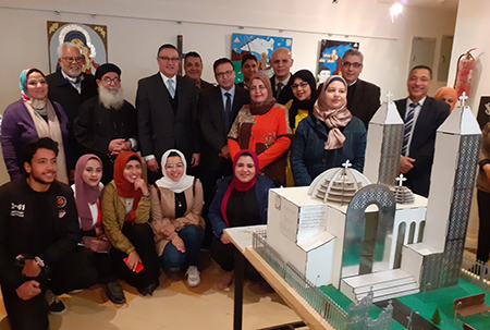 El Saeed opens Coptic arts Aesthetics Exhibition at Faculty of Specific Education