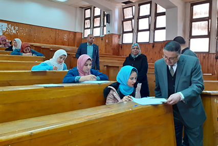 Dr Gamal El Saeed inspects Mid-Term Exams at Faculties