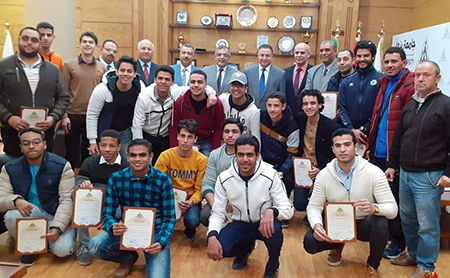 Benha University receives student 's Delegation from Suez University