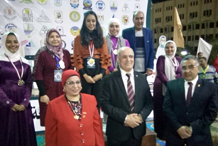 Benha University gets 5 Medals at Universities ' Girls Week