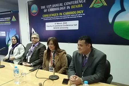 نائب رئيس جامعة بنها لخدمة المجتمع يفتتح مؤتمر أمراض القلب