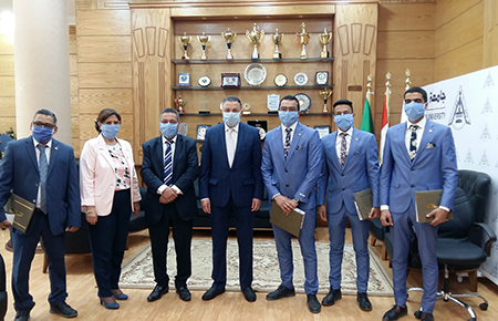 Benha University Honors Team work of the First Electronic sterilization portal