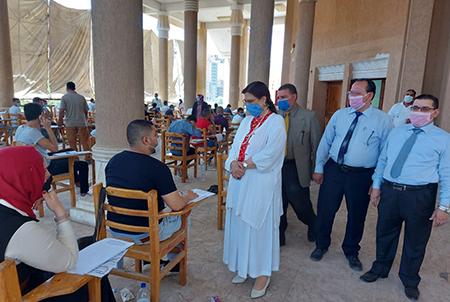 Randa Mustafa inspects the Exams at the Faculty of Law