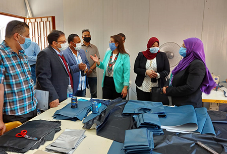 Randa Mustafa inspects the Products of Specific Education