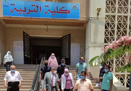 Almaghrabi inspects the Exams at the Faculty of Education
